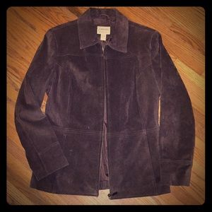 Suede jacket, leather. Bohemian, vintage style